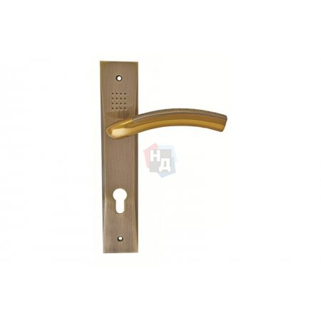 Дверная ручка на планке PZ SIBA Bari альбифрин, бронза