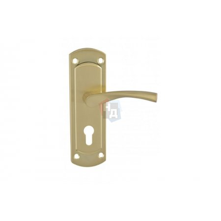 Дверная ручка на планке PZ SIBA Genoa латунь матовая