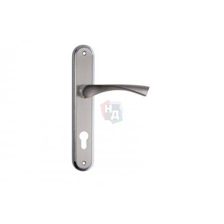 Дверная ручка на планке PZ SIBA Genoa никель матовый