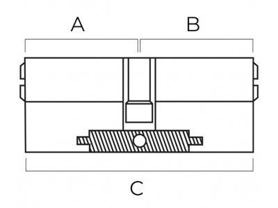 <Как определить размер цилиндра замка