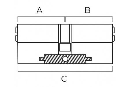 Как определить размер цилиндра замка