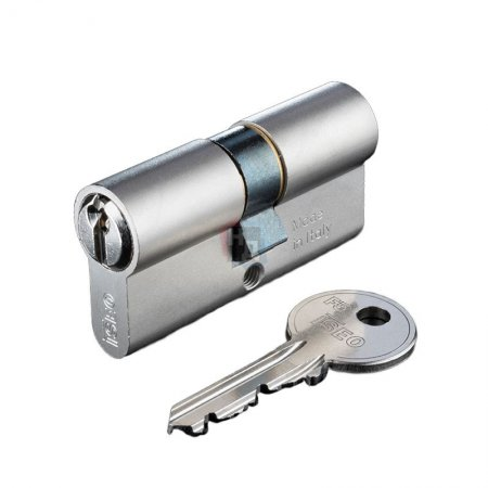 Цилиндр Iseo F5 40 (30x10) ключ-половинка хром