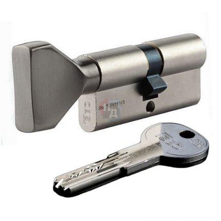 Цилиндр Iseo R6 60 (30x30T) ключ-тумблер хром