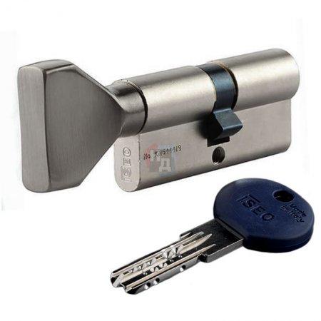 Цилиндр Iseo R7 60 (30x30T) ключ-тумблер хром