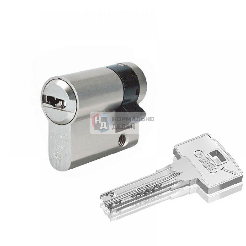 Цилиндр Abus Bravus 1000 Compact 40 (30x10) ключ-половинка никель