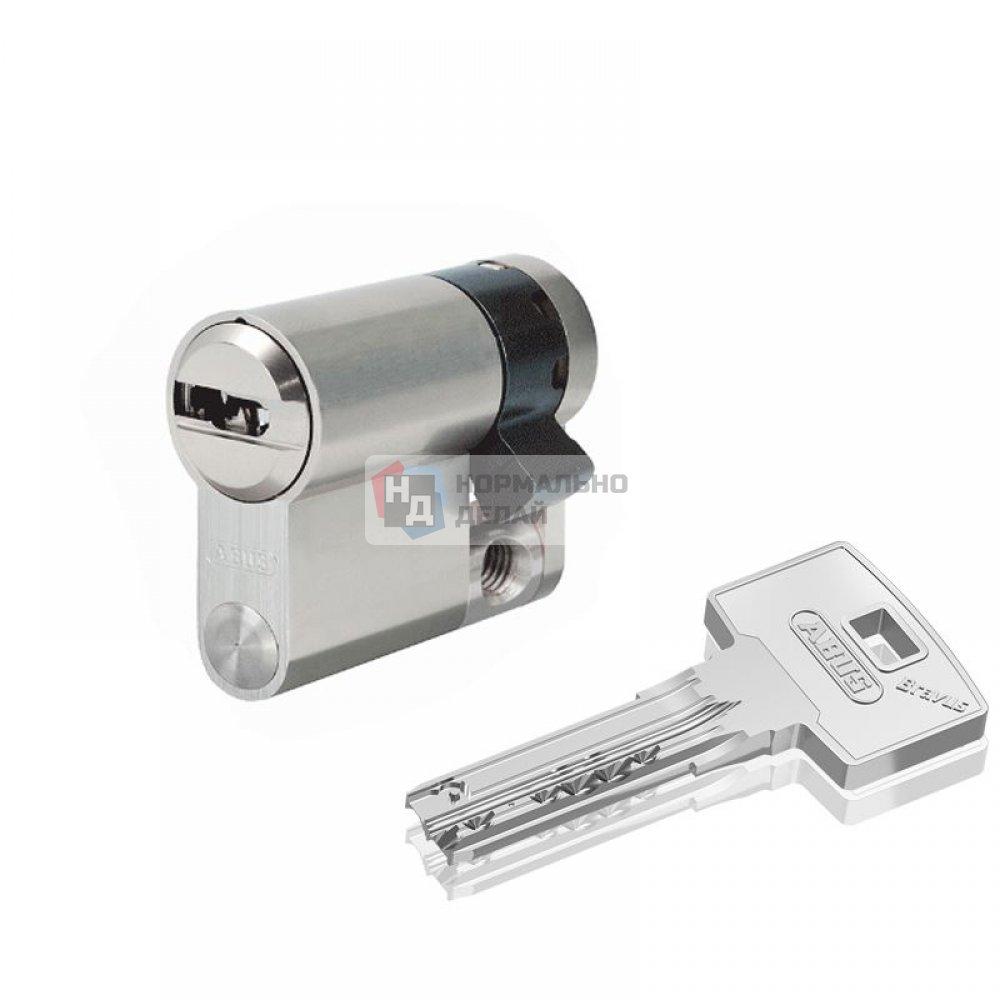 Цилиндр Abus Bravus 1000 MX 40 (30x10) ключ-половинка никель