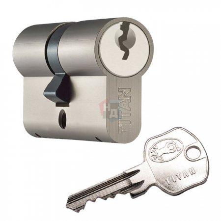 Цилиндр Titan K1 A 60 (30x30) ключ-ключ никель