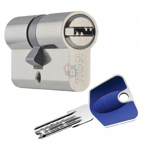 Цилиндр Titan K55 60 (30x30) ключ-ключ никель