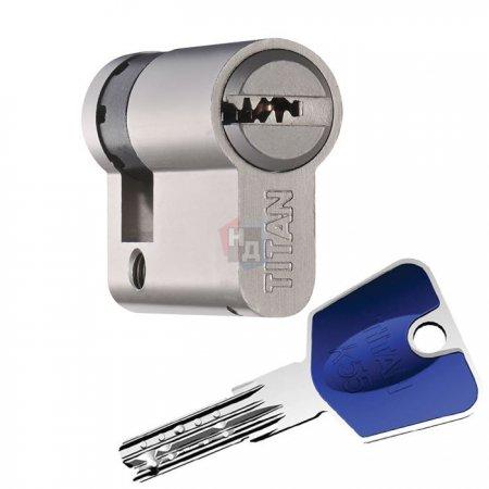 Цилиндр Titan K55 60 (50x10) ключ-половинка никель