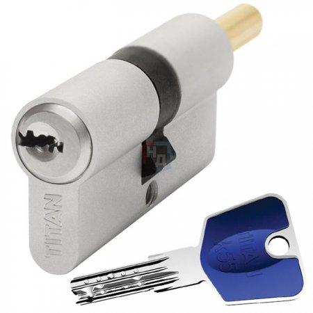 Цилиндр Titan K55 60 (30x30T) ключ-шток никель