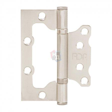 Петля дверная накладная RDA 100*75*2,5 серебро