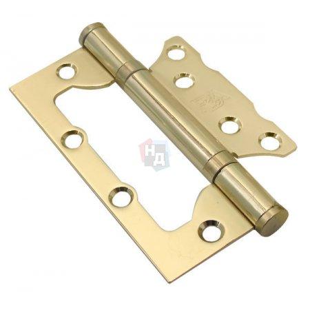 Петля дверная накладная RDA 100*65*2,5 латунь полированная (узкая)