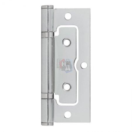 Петля дверная накладная RDA 100*65*2,5 хром полированный (узкая)