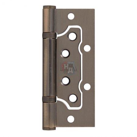 Петля дверная накладная RDA 100*65*2,5 латунь античная (узкая)
