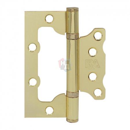 Петля дверная накладная RDA 100*75*2,5 латунь полированная