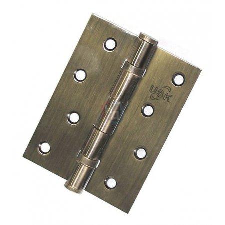 Петля дверная врезная USK 100*75*2.5-2BB AB античная бронза