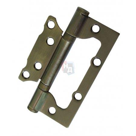 Петля дверная накладная USK 100*63*2.5-2BB AB античная бронза