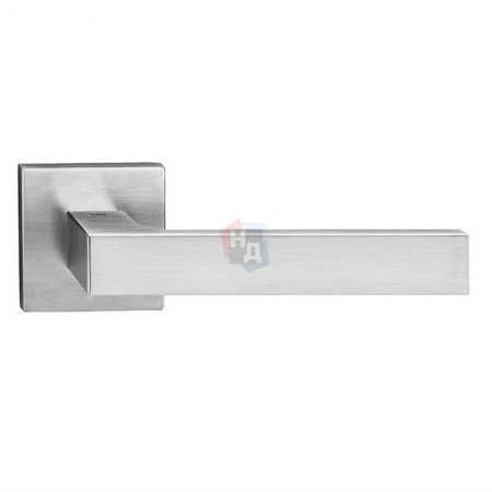 Дверная ручка Tupai Square Q 2275 5SQ-96 хром матовый