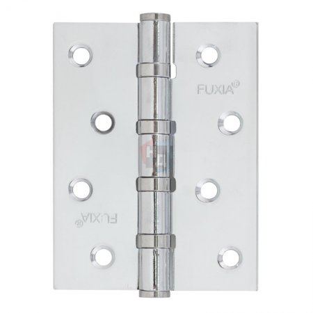 Петля дверная врезная Fuxia 100*75*2.5 хром универсальная